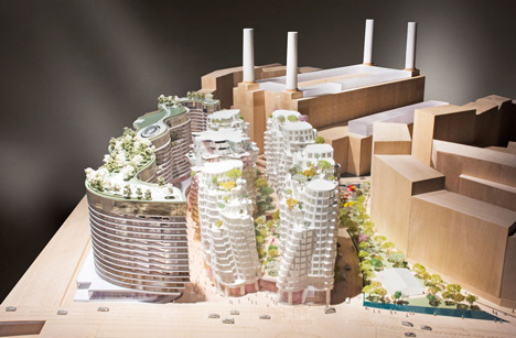 Gehry and Foster unveil designs for Battersea Power Station redevelopment