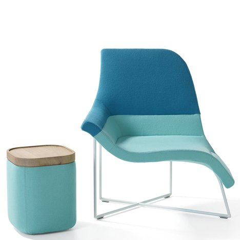 "UNStudio's Gemini chair ""allows a variety of seating positions"" for working or lounging"