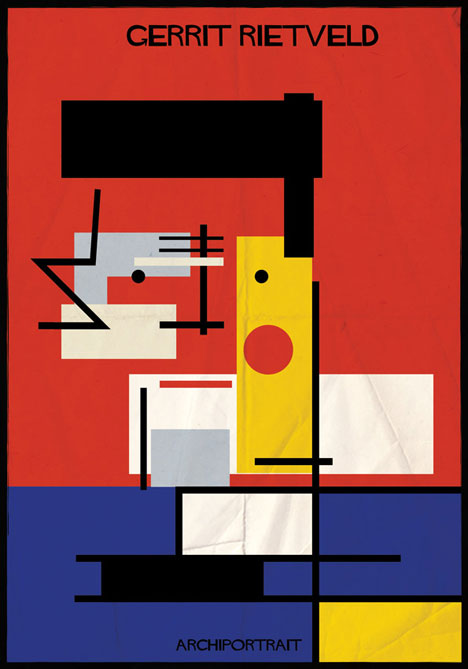 Gerrit Rietveld Archiportrait by Federico Babina
