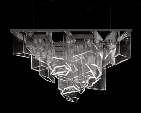 Daniel Libeskind creates chandelier from shafts of crystal for Lasvit
