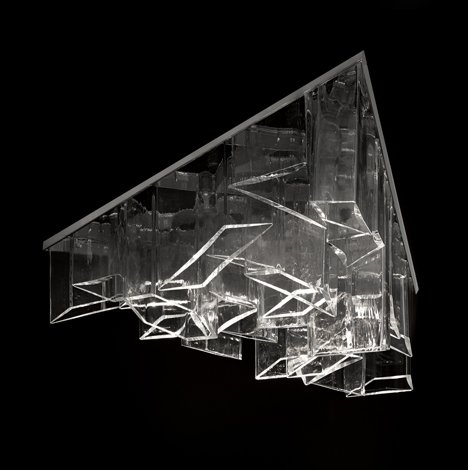 Awesome Daniel Libeskind creates chandelier from shafts of crystal for Lasvit