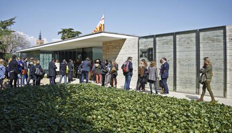 Jordi Bernadó removes the doors from Mies van der Rohe's Barcelona Pavilion