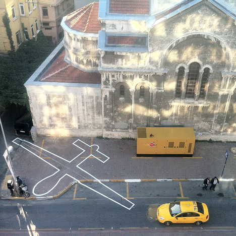 Drone Shadows by James Bridle evoke the presence of unmanned aircraft