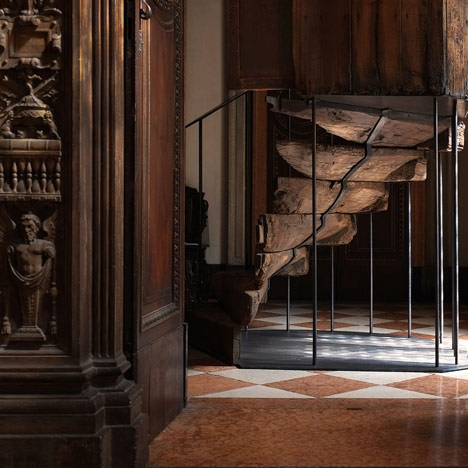 JamesPlumb marries cupboard and staircase for Milan exhibition