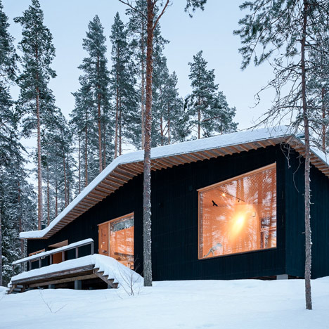 Villa Kettukallio by Playa Architects provides a woodland holiday h