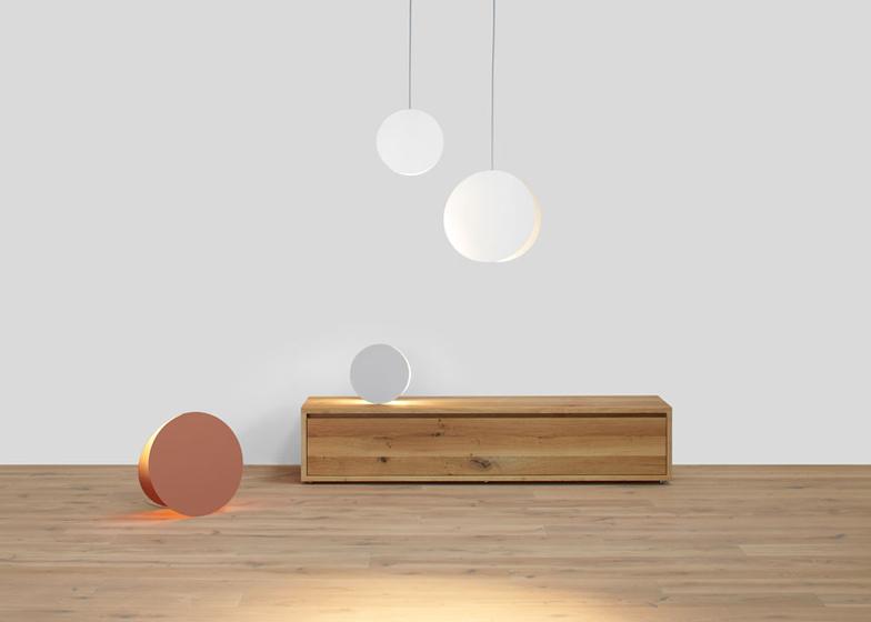 North pendant light and North floor light