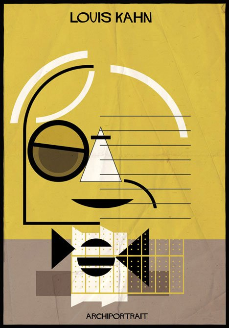 Louis Kahn Archiportrait by Federico Babina