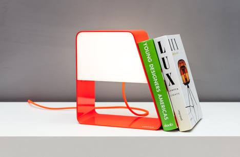 Zanocchi & Starke combine desktop bookcase and battery-powered lamp