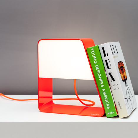 Zanocchi & Starke combine desktop bookcase and battery-powered lamp