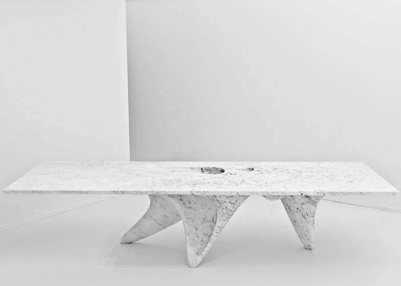 Luna Table by Zaha Hadid for Citco. Photo by Jacopo Spilimbergo