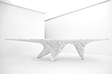 Luna table by Zaha Hadid for Citco. Photo by Jacopo Spilimbergo