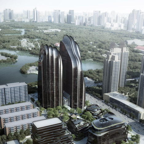 MAD's landscape-inspired Chaoyang Park Plaza breaks ground in Beijing