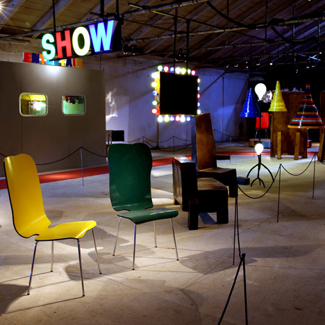 """Maarten Baas's surreal solo show created to<br /> """"emphasise the circus that Milan is"""""""