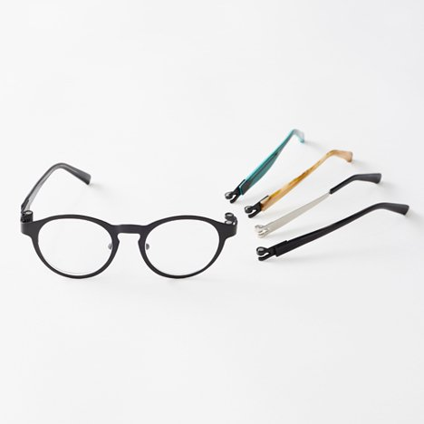 Nendo replaces screws with magnets in Magne-hinge glasses