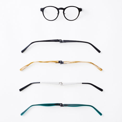 Magne-hinge glasses by Nendo
