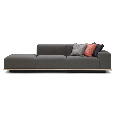 "Fattorini+Rizzini+Partners' MEET sofa combines ""sound absorption"" with versatility"