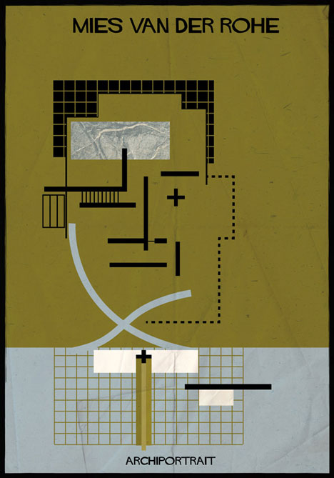 Mies van der Rohe Archiportrait by Federico Babina