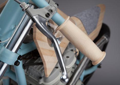 Motorbike reinterpreted as a furniture piece by JoeVelluto