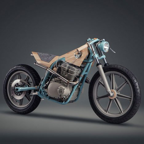Motorbike reinterpreted as a furniture piece by Joe Velluto