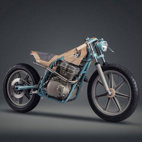 Motorbike reinterpreted as a furniture piece by Joe Velluto