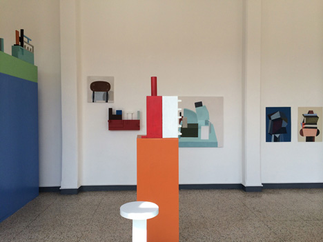 Nathalie Du Pasquier exhibition at her studio in Milan Disegno