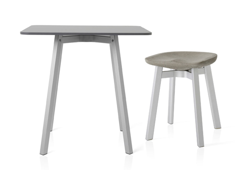 Nendo reimagines the Navy Chair to create new stool for Emeco