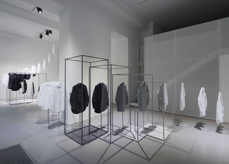 Nendo created a simple and ethereal installation based on the COS white shirt