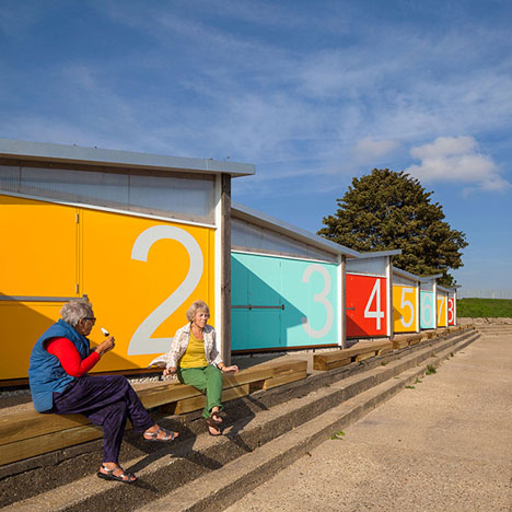 Traditional British beach huts get a modern makeover from Pedder & Scampton