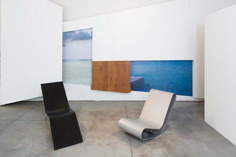 OMA installation for Lensvelt's Maarten van Severen furniture collection