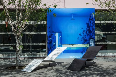 OMA installation for Lensvelt's Maarten van Severen furniture collection