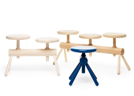 Orkester bench collection by Mia Cullin