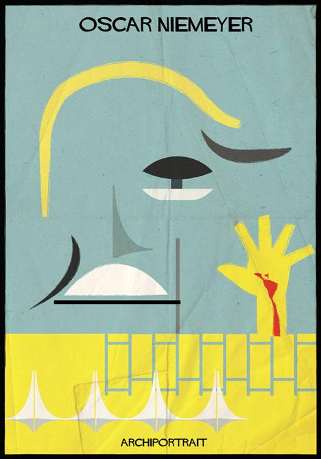 Oscar Niemeyer Archiportrait by Federico Babina