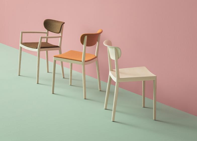 Tivoli chairs and armchairs by Michele Cazzaniga, Simone Mandelli and Antonio Pagliarulo