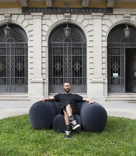 "Philippe Malouin creates ""super soft"" foam chair for Established & Sons"