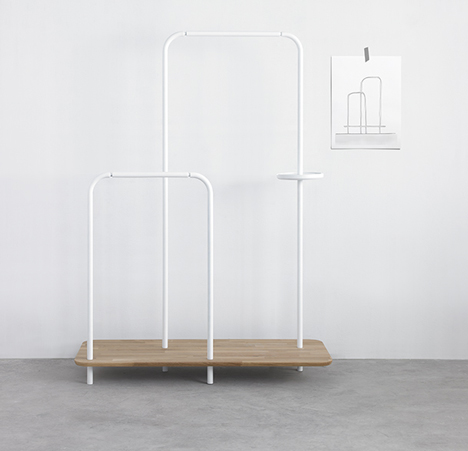 Note Design Studio creates Plateau storage unit to keep the hallway tidy