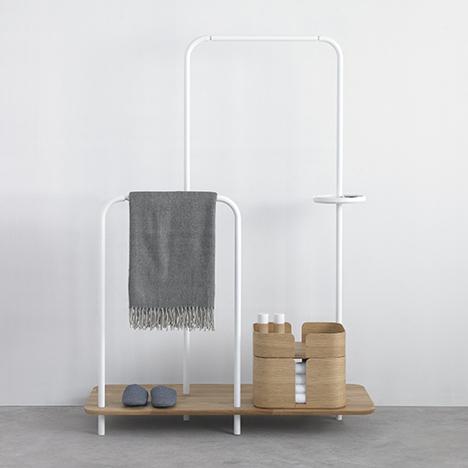 Note Design Studio creates Plateau storage unit to keep the hallway tidy