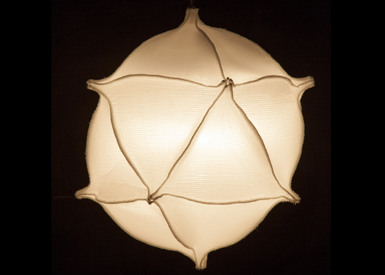 Radiolaria 3D-woven fabric lamps by Bernotat & Co