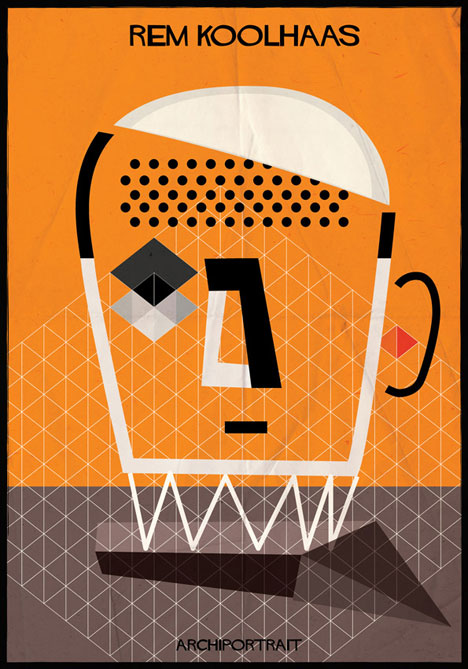 Rem Koolhaas Archiportrait by Federico Babina