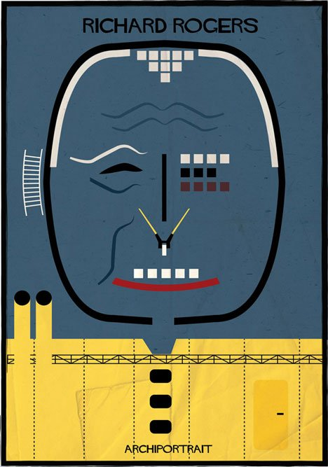 Richard Rogers Archiportrait by Federico Babina