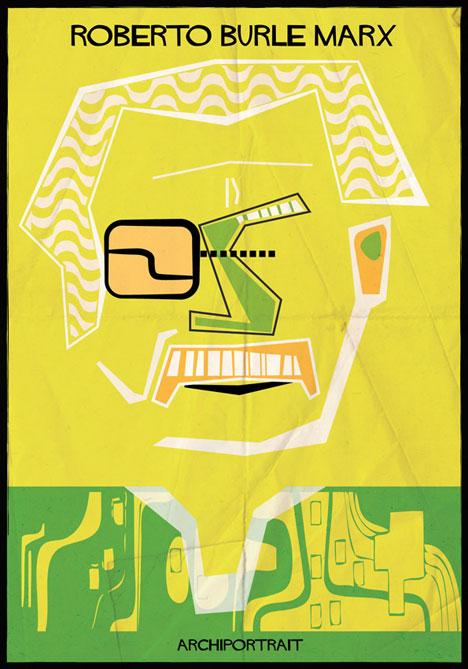 Roberto Burle Marx Archiportrait by Federico Babina