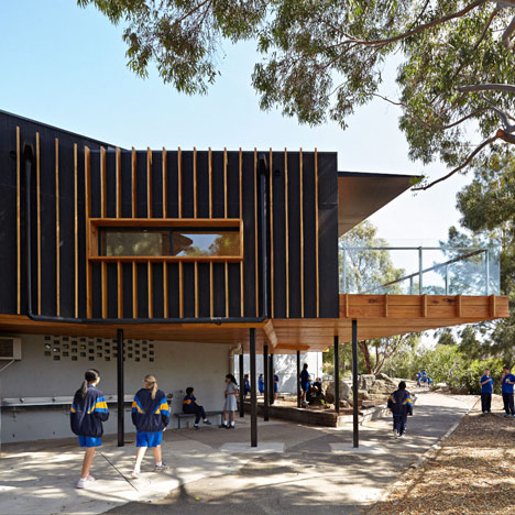 Branch Studio Architects adds timber-clad extension to Australian school library