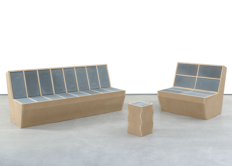Sarah Lucas furniture for Sadie Coles HQ
