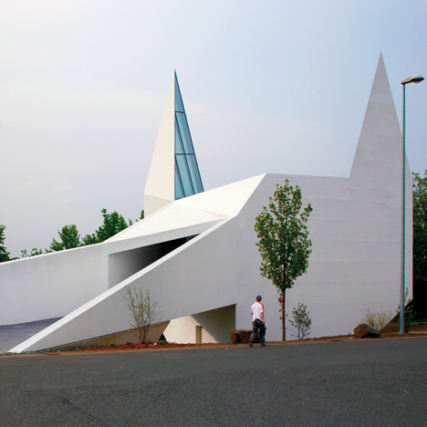 Schneider+Schumacher's church based on motorway signage looks like Batman