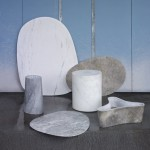 Scholten & Baijings carves geometric patterns into marble table collection