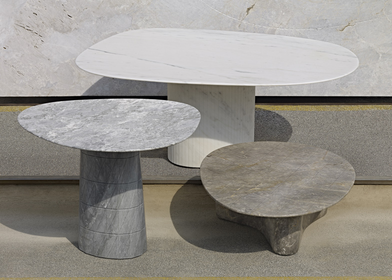 Solid Patterns tables by Scholten & Baijings for Luce di Carrara