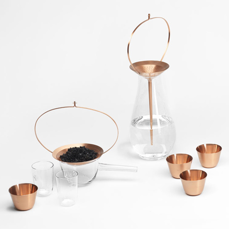 Formafantasma combines crystal and copper with ritualistic water purification range