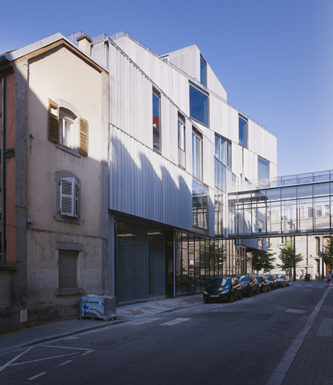 Aluminium-clad building by Marc Mimram added to Strasbourg architecture school