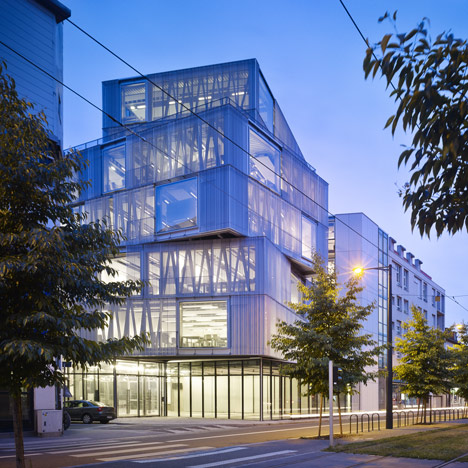 Aluminium-clad building by Marc Mimram added to Strasbourg architecture scho