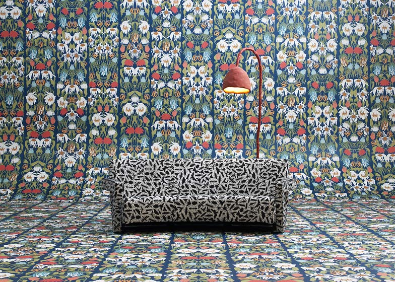 Studio Job raided it's own archives for bold patterns to use for a wallpaper collection