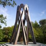 Towering copper memorial by Borheh honours an Iranian philosopher